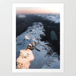 Glacial Lakes of the Mt Cook National Park, New Zealand Art Print