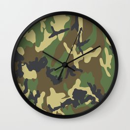 Woodland Camo Wall Clock