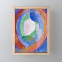 "Robert Delaunay ""Formes circulaires; lune no. 1"" Framed Mini Art Print"