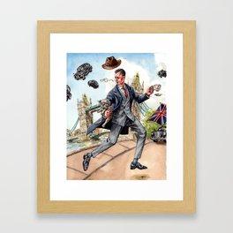 Kingsman x Mr Porter in Jolly England Framed Art Print