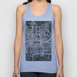 Quad Cities Street Map Unisex Tank Top