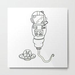 Space Sperm Metal Print