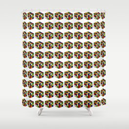 pattern rubik cube game puzzle Shower Curtain