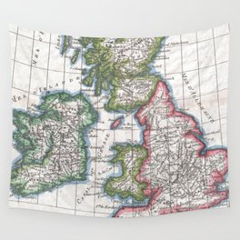 Vintage Map of British Isles (1780) Wall Tapestry