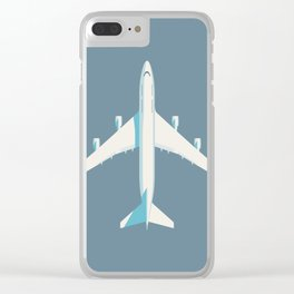 747-400 Jumbo Jet Airliner Aircraft - Slate Clear iPhone Case