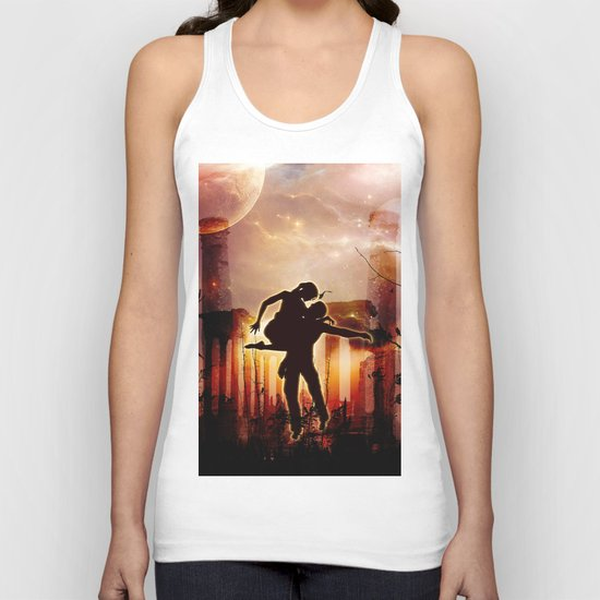 Dancing in the night Unisex Tank Top