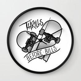 Thrills Before Bills Wall Clock