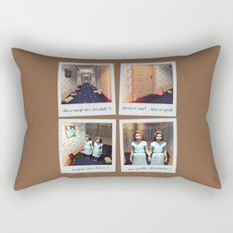 Jumelles et Chocolat Rectangular Pillow