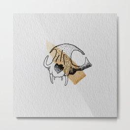 Bobcat Skull  Metal Print