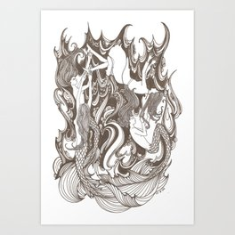Nixies Art Print