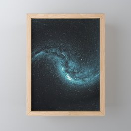 Blue Galaxy and Stars Framed Mini Art Print