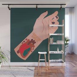 I Wear My Heart On My Sleeve Wall Mural
