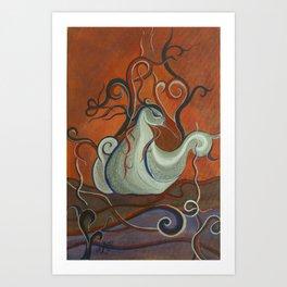 Whimsical Creatures 3 Art Print