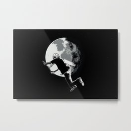 Tailing the Moon - Tail-whip Scooter Stunt Metal Print