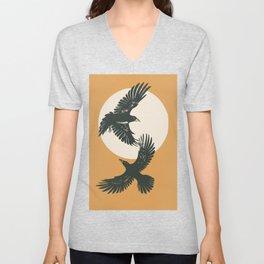 Raven sunset Unisex V-Neck