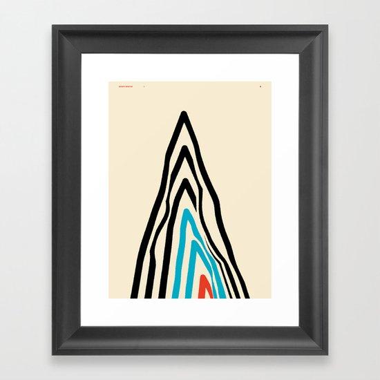 GOODBYE MOUNTAIN 2 — Matthew Korbel-Bowers Framed Art Print
