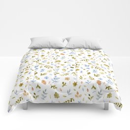 Watercolor Leaf Pattern Comforters