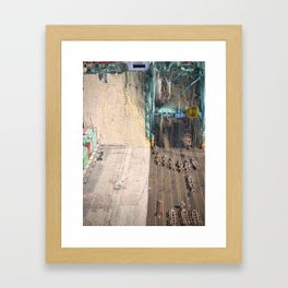 Complex loading structure - Glitch in the docks Framed Art Print