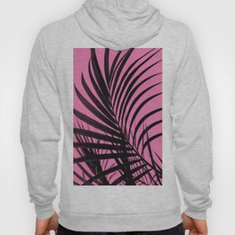 Simple palm leaves paradise with pink Hoody