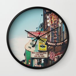 Lower Broadway, Nashville print  Wall Clock
