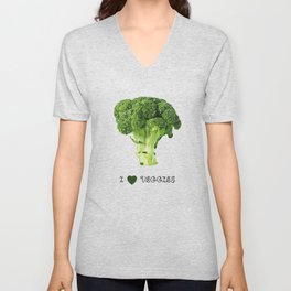 Broccoli - I love veggies Unisex V-Neck