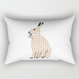 Ginghanimals - Hare Rectangular Pillow