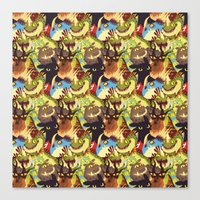 dragons Canvas Prints featuring Dragons! by Flaroh