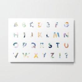 Abstract Alphabet Metal Print