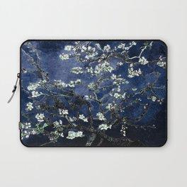 Vincent Van Gogh Almond Blossoms Dark Blue Laptop Sleeve