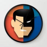 heroes Wall Clocks featuring Heroes by Evan Gaskin