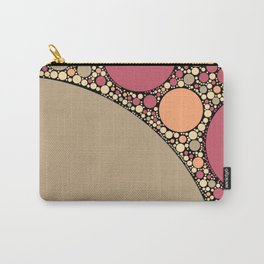 priya - tan and pink abstract design with black outline Carry-All Pouch