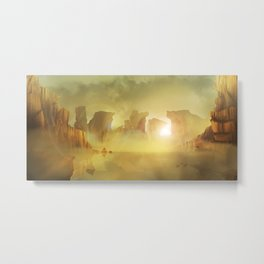 Oasis in the Desert Metal Print