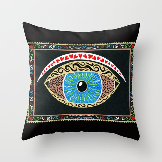 The eye sees all Throw Pillow