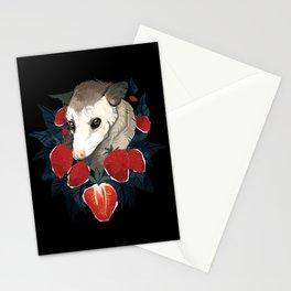 Strawberry Opossum by Alison Polston Stationery Cards