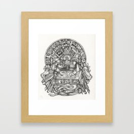 Aztec DJ Framed Art Print