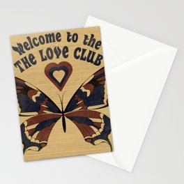 Welcome to the love club Stationery Cards