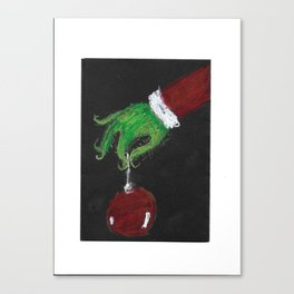 The Grinch Decorates His Tree Canvas Print