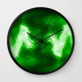 green color abstract Wall Clock