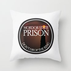 Mordor State Prison  Throw Pillow