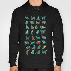 Colorful Christmas cats Hoody