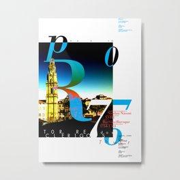 PORTO / CLÉRIGOS Metal Print