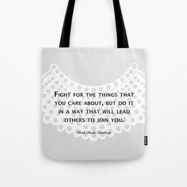 Fight, Lead - RBG (grey) Tote Bag