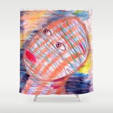 Plaid Head2 Shower Curtain