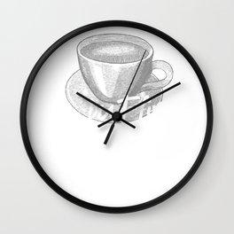 Coffee Barista Ok but first Coffee Wall Clock