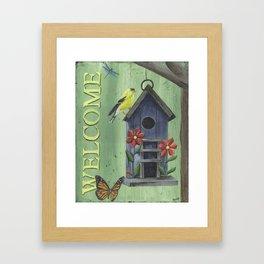 Welcome Goldfinch Framed Art Print