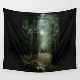 In the forest of Washington state, ponderosa pine trees Wall Tapestry