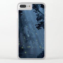 Dapplewood (Night) Clear iPhone Case