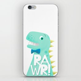 Cute Dinosaur Bow Tie Illustration | RAWR iPhone Skin
