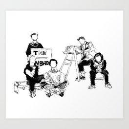 The neighbourhood: band  Art Print