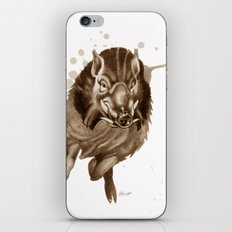 Don't Mess With Me : Charging Boar iPhone & iPod Skin